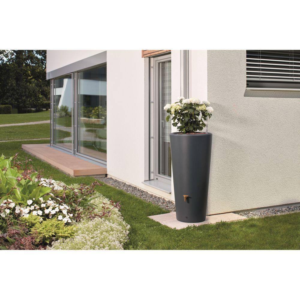 r cup rateur d 39 eau r servoir vaso 2en1 220 l graphite garantia plantes et jardins. Black Bedroom Furniture Sets. Home Design Ideas