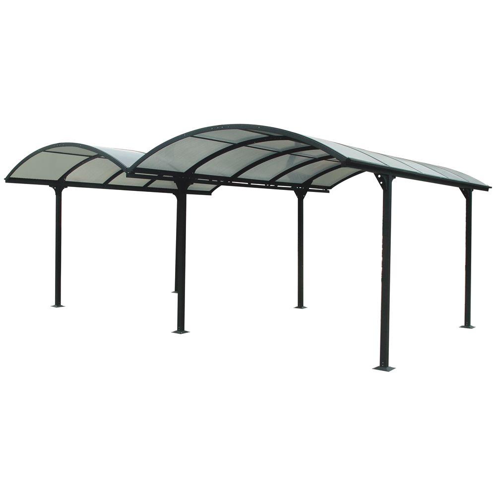 Carport double en aluminium 28.62 M²