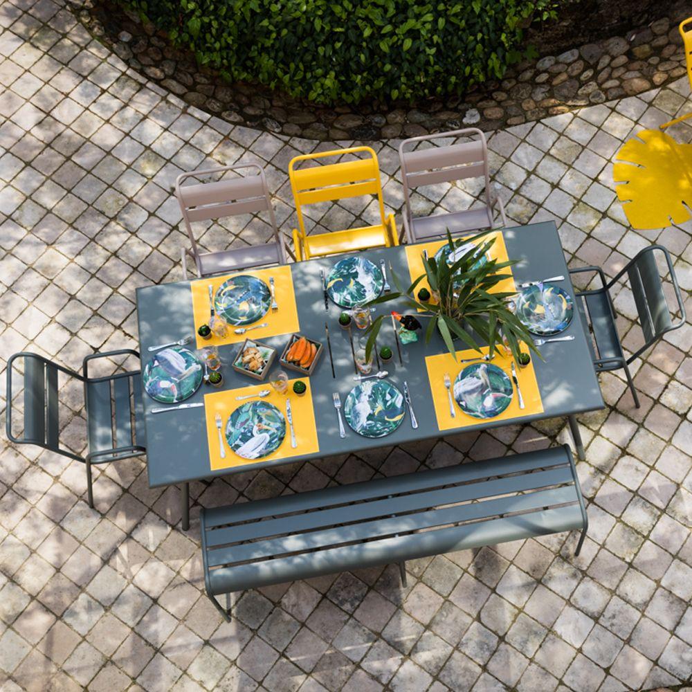 salon de jardin fermob monceau 8 pers romarin muscade. Black Bedroom Furniture Sets. Home Design Ideas