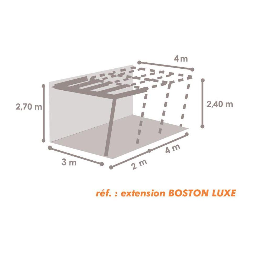 Tonnelle adoss e aluminium 4x6 m lames orientables - Tonnelle adossee retractable ...
