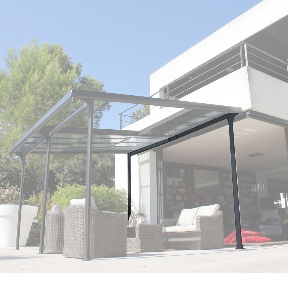 tonnelle autoportante aluminium toit polycarbonate 4x3 5. Black Bedroom Furniture Sets. Home Design Ideas