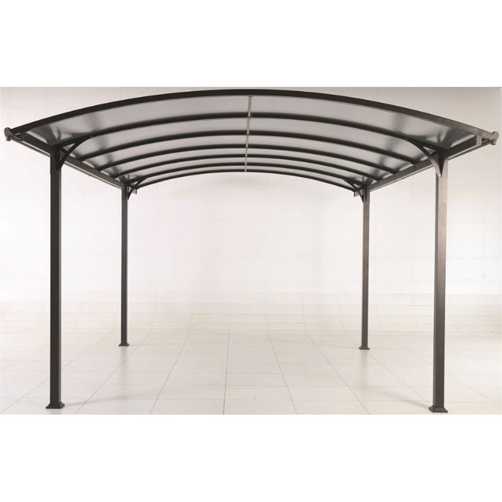 Carport aluminium avec clairage autonome 18 m plantes for Car port pl
