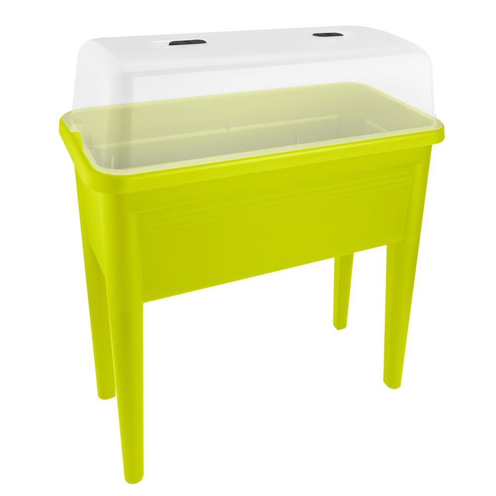 carr potager sur pieds avec cloche elho l76 h65 1 cm vert plantes et jardins. Black Bedroom Furniture Sets. Home Design Ideas
