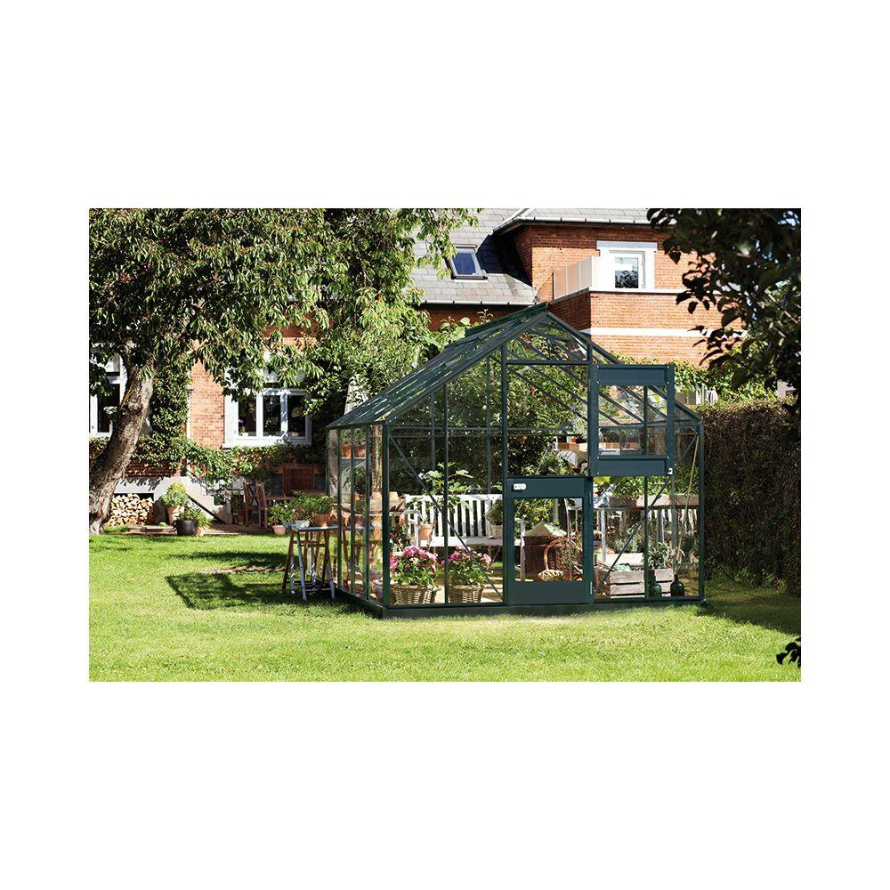 Serre De Jardin Compact Plus Verre Horticole 8 3 M Anthracite Juliana Plantes Et Jardins