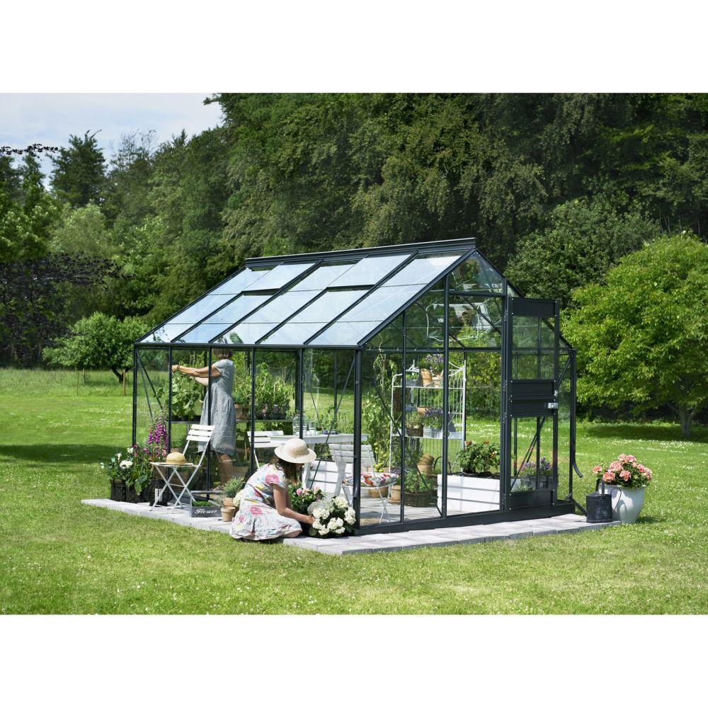 serre de jardin compact plus verre horticole 9 9 m anthracite juliana plantes et jardins. Black Bedroom Furniture Sets. Home Design Ideas