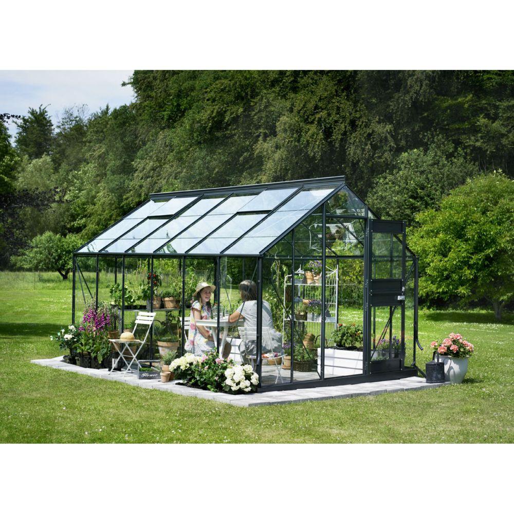 Serre De Jardin Compact Plus Verre Horticole 12 1 M Anthracite Juliana Plantes Et Jardins