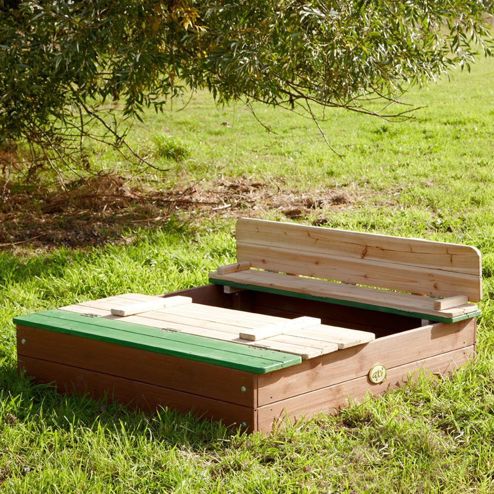 bac sable bois avec bancs ella plantes et jardins. Black Bedroom Furniture Sets. Home Design Ideas