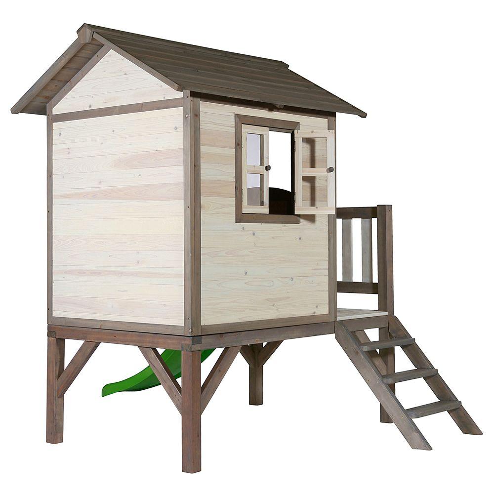 maisonnette enfant bois sur pilotis toboggan lodge naturel plantes et jardins. Black Bedroom Furniture Sets. Home Design Ideas