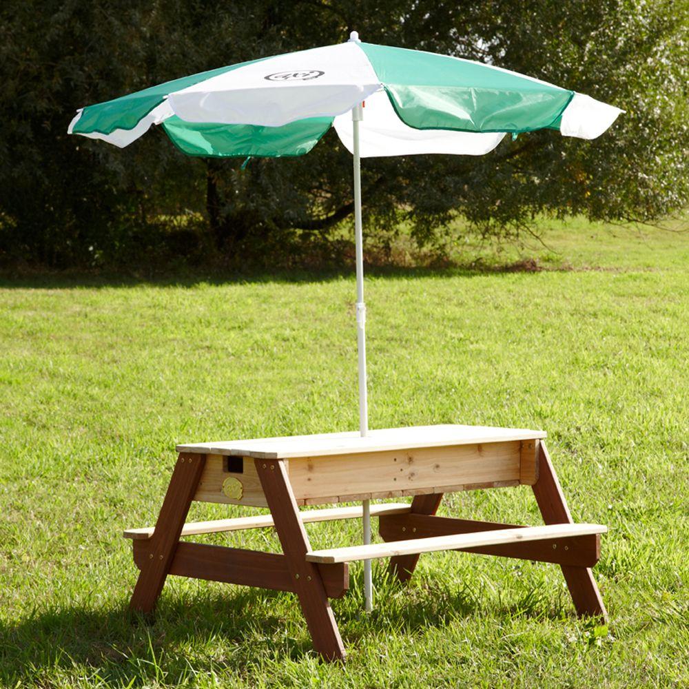table de pique nique bois sable et eau nick plantes et jardins. Black Bedroom Furniture Sets. Home Design Ideas