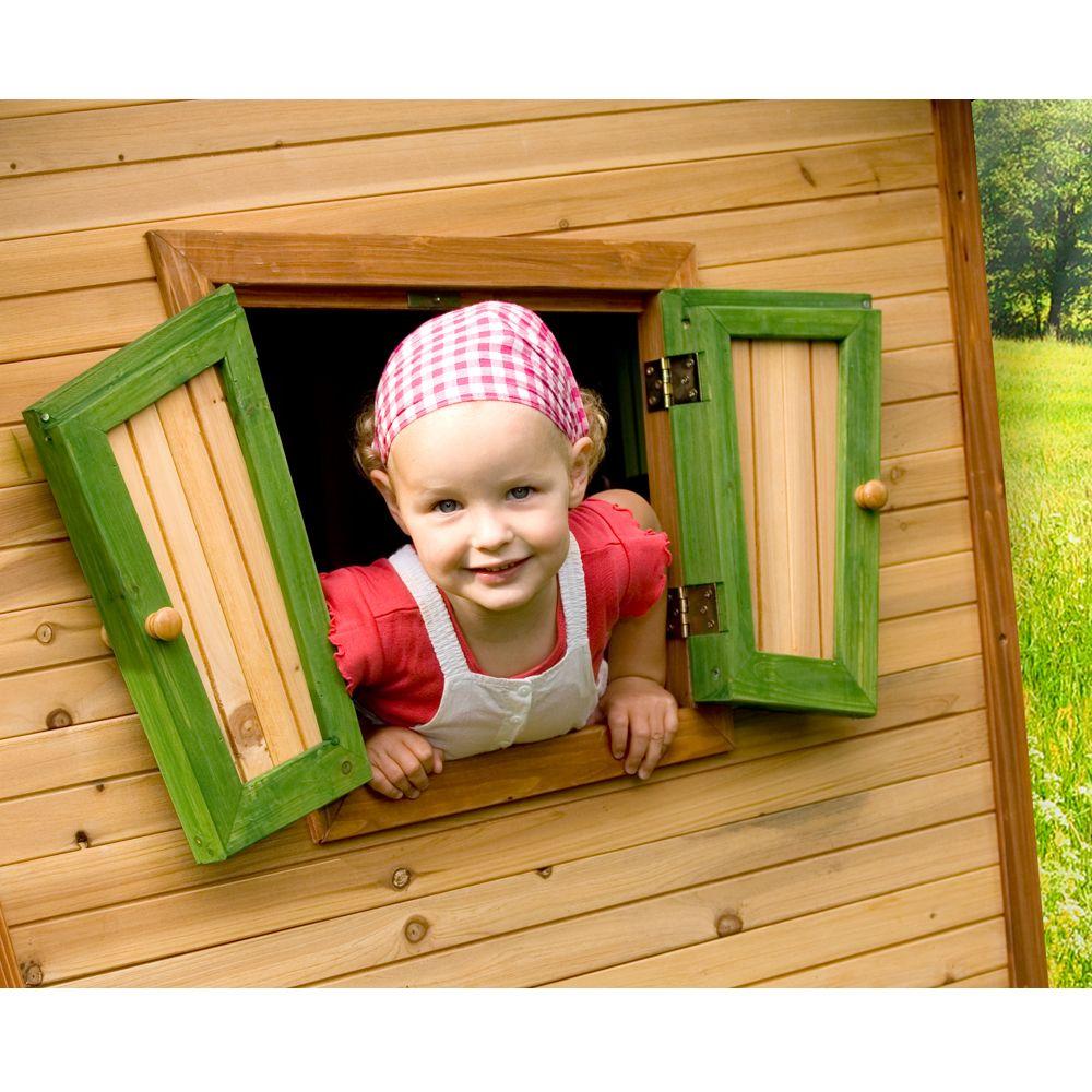 maisonnette enfant bois sur pilotis toboggan robin plantes et jardins. Black Bedroom Furniture Sets. Home Design Ideas