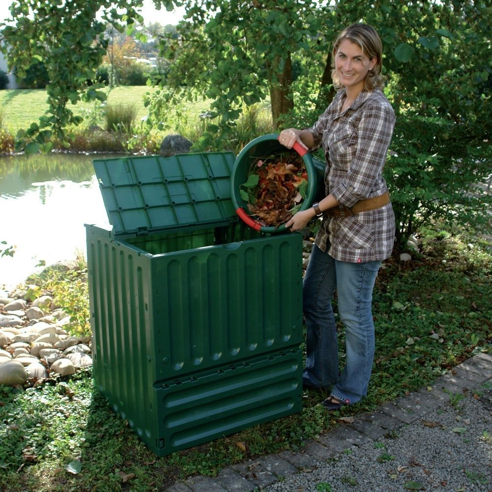 Kit composteur Eco-King vert 600L + Grille de fond
