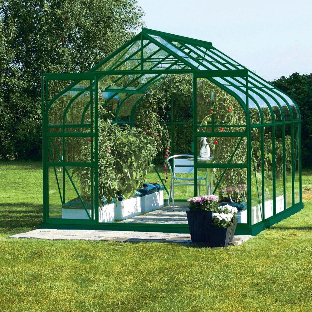 serre diana en verre tremp m vert lams plantes et jardins. Black Bedroom Furniture Sets. Home Design Ideas