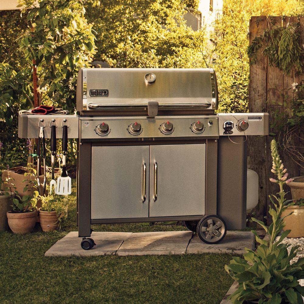 barbecue gaz weber genesis ii lx s 440 inox plancha. Black Bedroom Furniture Sets. Home Design Ideas