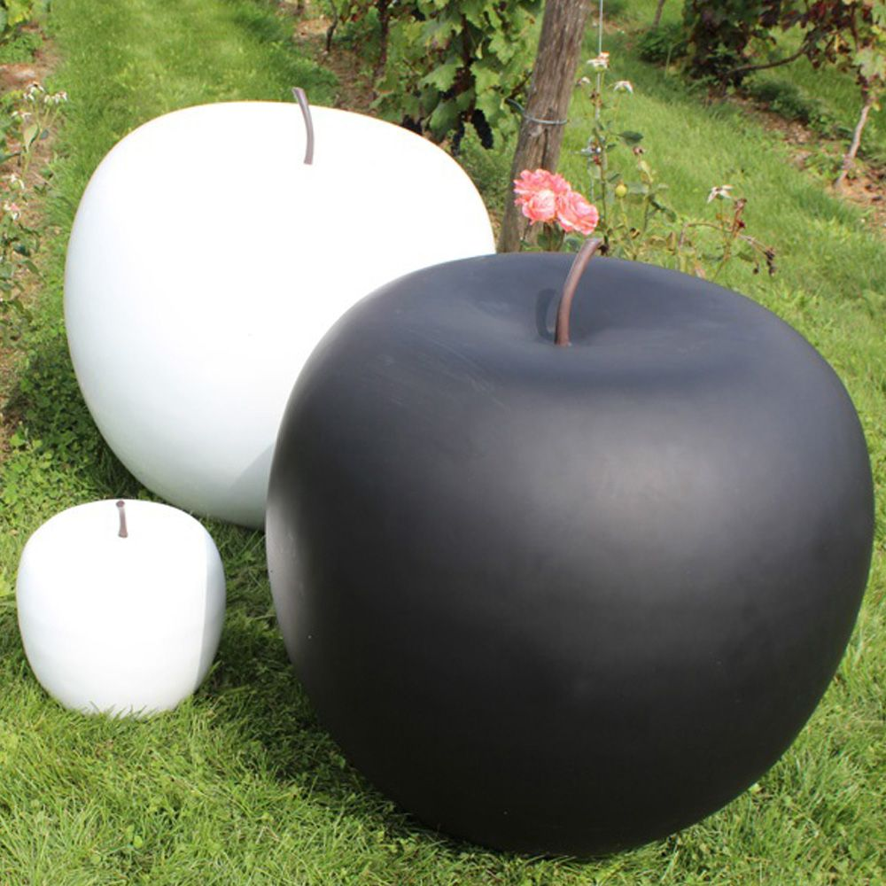pomme d corative 25 cm r sine blanc plantes et jardins. Black Bedroom Furniture Sets. Home Design Ideas