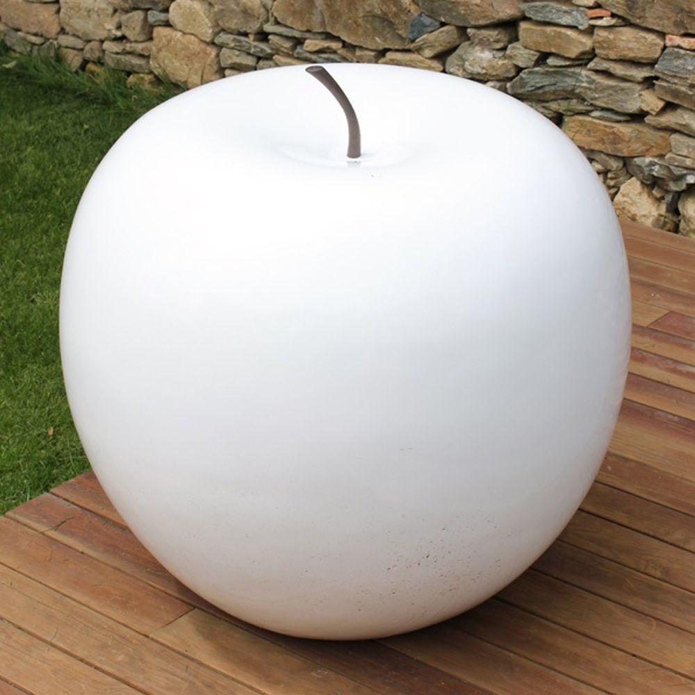 pomme d corative xxl 77 cm r sine blanc plantes et jardins