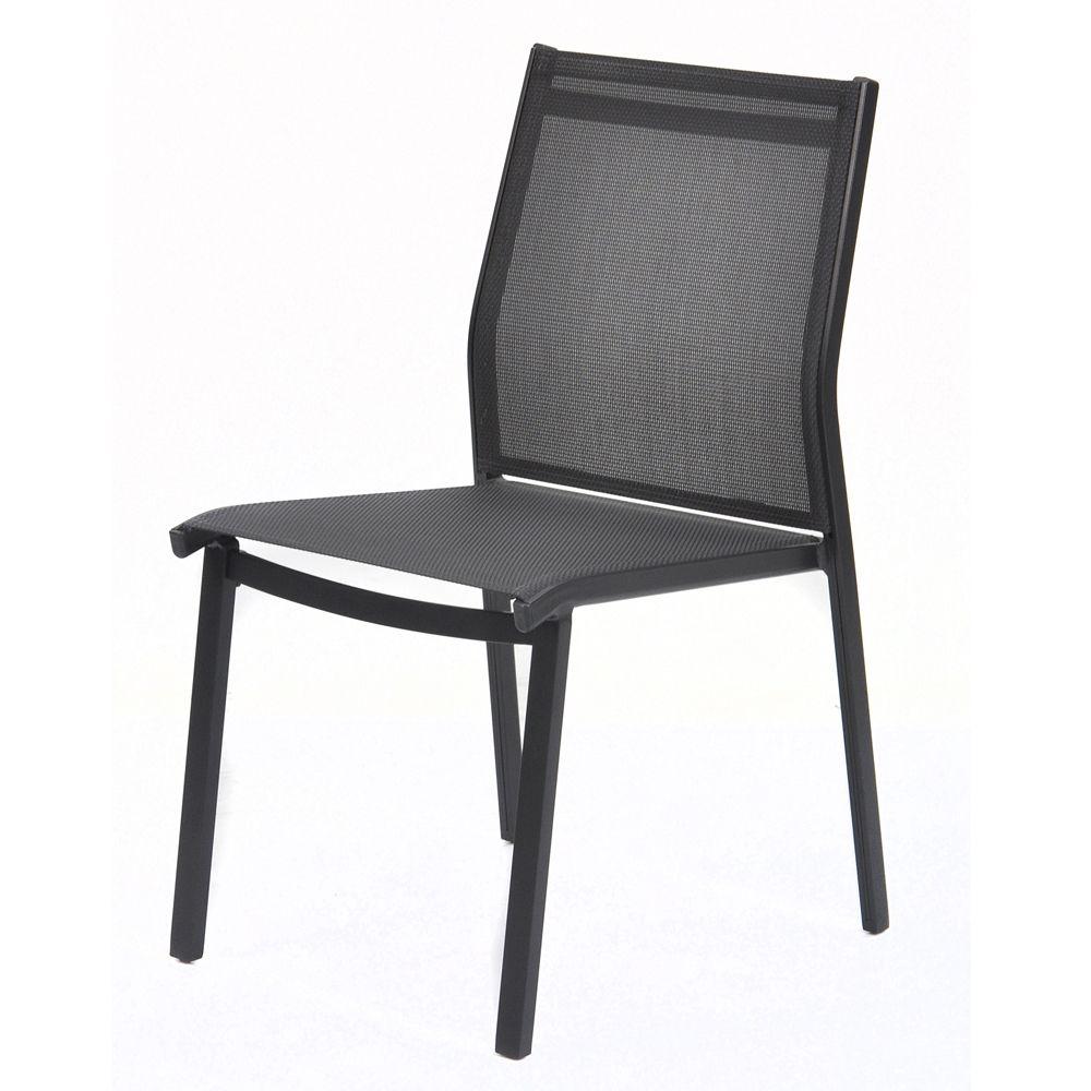 Chaise empilable kettler lille aluminium textil ne for Chaise de jardin aluminium et textilene