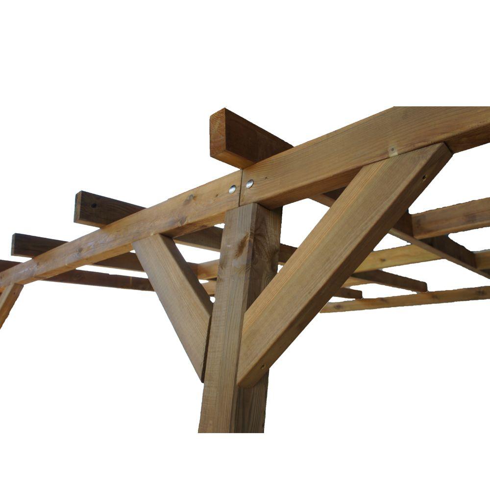 pergola adoss e bois trait 3x3 m plantes et jardins. Black Bedroom Furniture Sets. Home Design Ideas