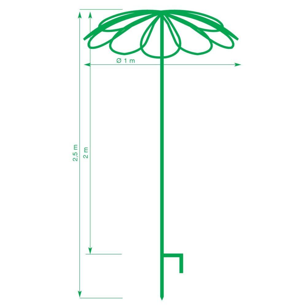 tuteur parapluie 9 p tales plantes et jardins. Black Bedroom Furniture Sets. Home Design Ideas