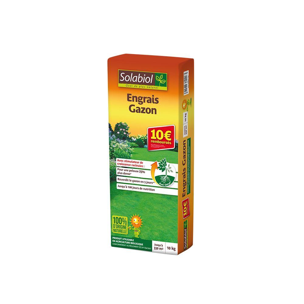Engrais gazon 10 kg solabiol plantes et jardins - Engrais gazon printemps ...