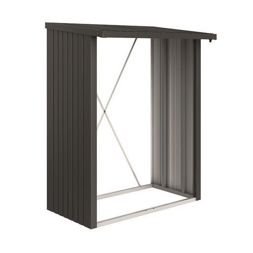 abri b ches m tal biohort woodstock 1 8 st res gris fonc plantes et jardins. Black Bedroom Furniture Sets. Home Design Ideas