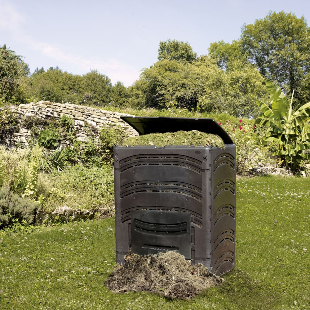 composteur compost 39 eco 500 l noir bellijardin plantes et jardins. Black Bedroom Furniture Sets. Home Design Ideas
