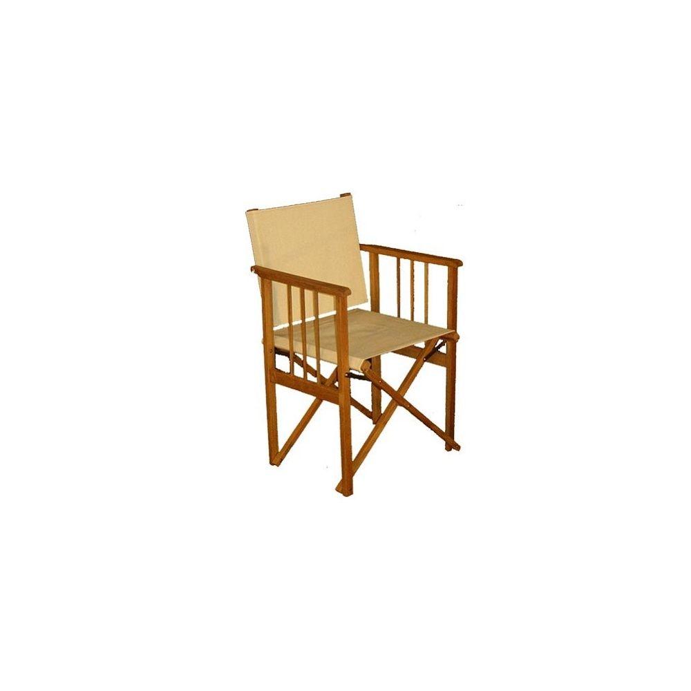 fauteuil metteur en sc ne toile crue collection seram plantes et jardins. Black Bedroom Furniture Sets. Home Design Ideas