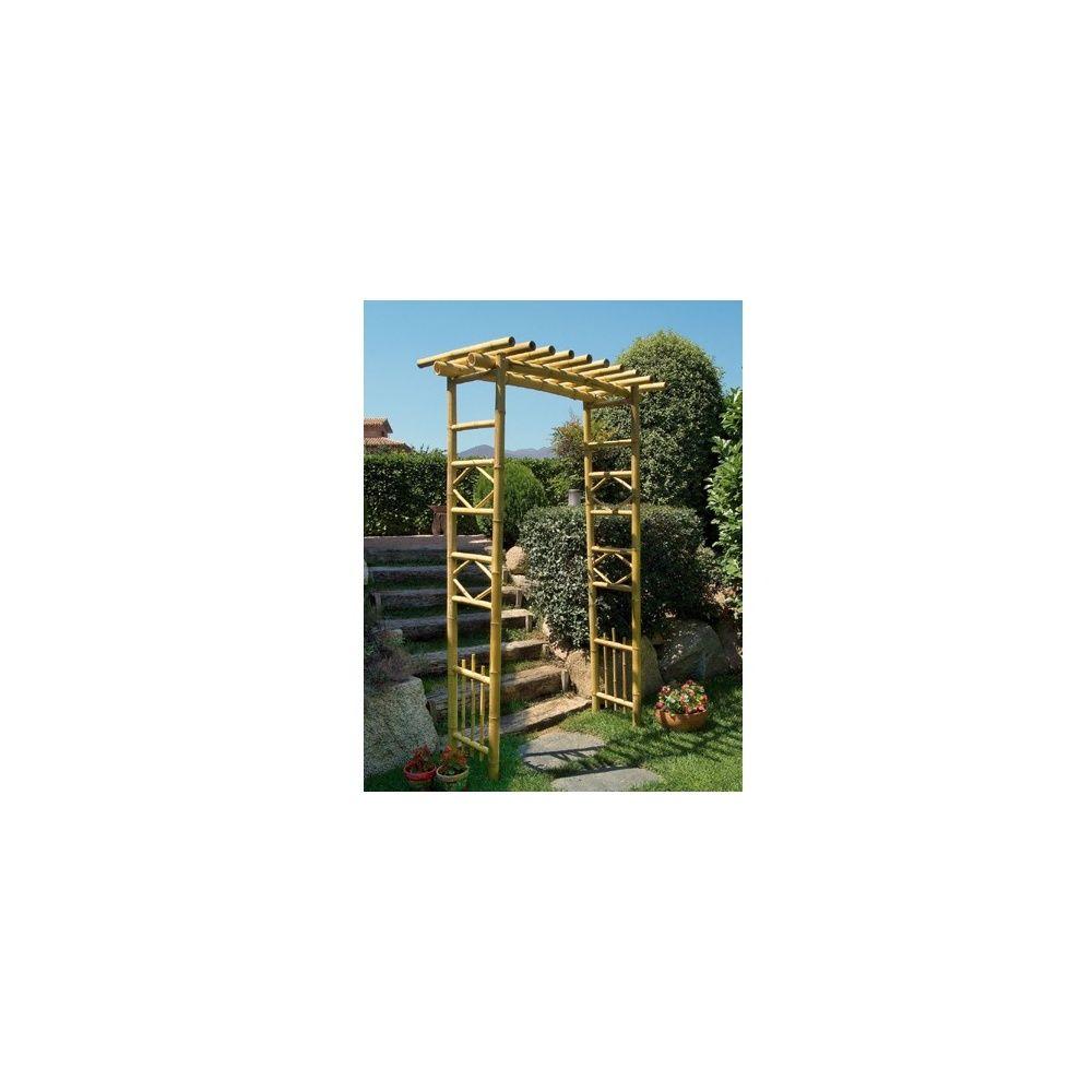 pergola en bambou intermas celloplast plantes et jardins. Black Bedroom Furniture Sets. Home Design Ideas