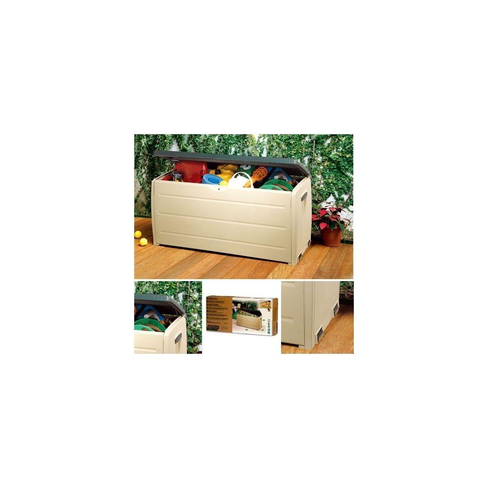coffre de rangement jardin en r sine 330 l plantes et jardins. Black Bedroom Furniture Sets. Home Design Ideas