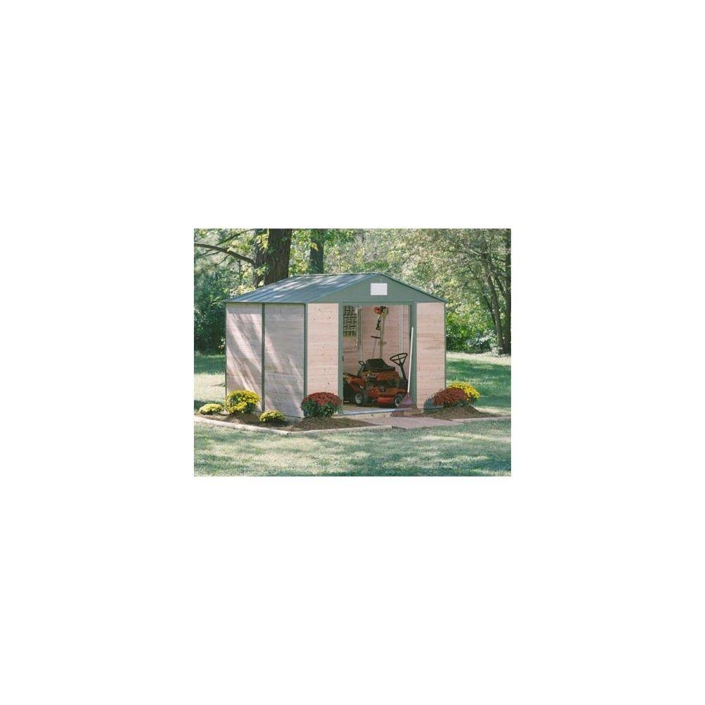 Abri de jardin 4 5m2 c dre du canada et acier plantes et for Abri jardin 5m2