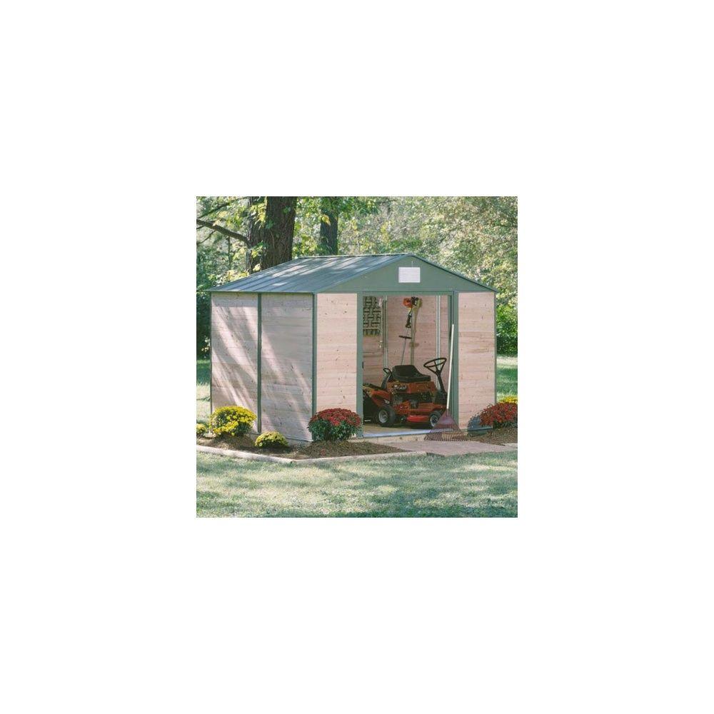abri de jardin 11 4 m hors tout c dre du canada et acier plantes et jardins. Black Bedroom Furniture Sets. Home Design Ideas