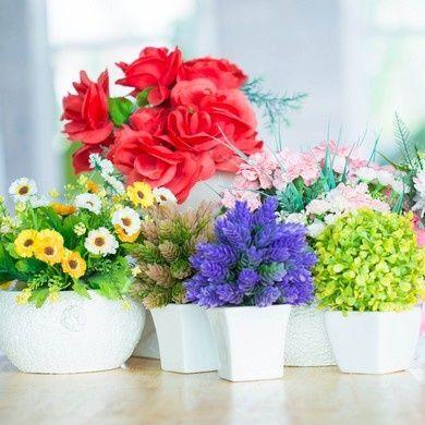 Plantes fleuries artificielles